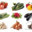 Set of vegetables - Foto Stock