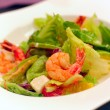 Salad from seafood and vegetables — Stock Photo