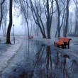 Benches and pools - Foto Stock