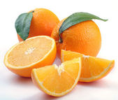 Orange with segments — Foto de Stock