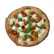 Stock Photo: Pizza with tomatoes and cheese