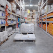 Warehouse shop of building materials — Foto Stock