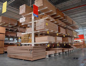 Warehouse of building materials — Stock Photo