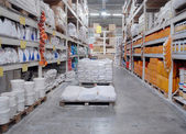 Warehouse shop of building materials — Stock Photo