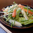 Spring salad from fresh vegetables - Stock Photo