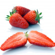 Stock Photo: Whole strawberry and half