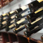 Wine bottles in shop — Stock Photo #2188725
