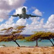 The landing of an aircraft — Stock Photo