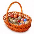 ovos de Páscoa em uma cesta Chalinolobus — Fotografia Stock  #2189233