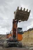 The big dredge in open-cast mine — Stock Photo