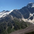 Panorama glacier the Big seven — Stock Photo