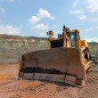 The bulldozer after work - Stock Photo