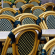 Wet tables and chairs - Stock Photo