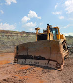 The bulldozer after work — Stock Photo