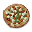 Izza with tomatoes and cheese — Stock Photo
