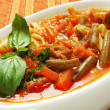 Lagman meal of the Uzbek ethnic cuisine - Stock Photo
