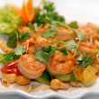 The big tiger shrimps with vegetables — Stock Photo