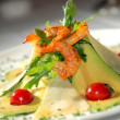 Salad from seafood with avocado — Stock Photo