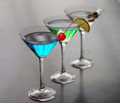 Classical martini with berries — Stock Photo