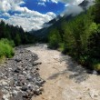 The mountain river Baksan after rains — Stock Photo