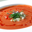 The Spanish tomato soup gaspacho — Stock Photo