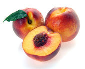 Peaches and a half — Stock Photo