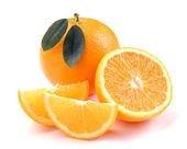 Orange with segments — Stock Photo
