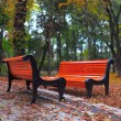 Stock Photo: Benches in city park
