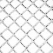 Hoarfrost and snow on a metal grid — Stock Photo