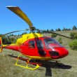 The helicopter has landed - Stock Photo