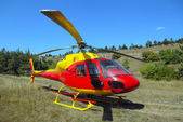 The helicopter has landed — Stock Photo