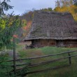 House of Carpathians with cart - Foto Stock