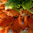Foto Stock: Boiled river lobsters