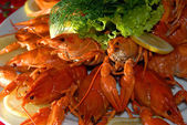 Boiled river lobsters — Stock Photo