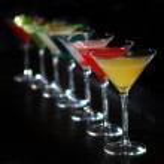 Cocktails in martini glasses — Stock Photo