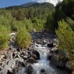 la montaña río baksan — Foto de Stock