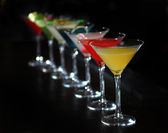 Cocktails in martini glasses — Stock Photo
