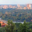 Panorama of Kiev and the river Dnepr — Stock Photo