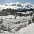 Plateau panorama Ah-petri in the winter — Stock Photo