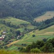 Stock Photo: PanoramCarpathians villages
