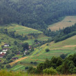 Panorama Carpathians villages — Stock Photo