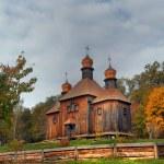Wooden orthodox church — Stock Photo #2572345
