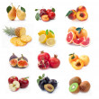 Collection of ripe fruits images - Stock Photo