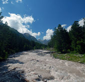 The mountain river Baksan — Stock Photo