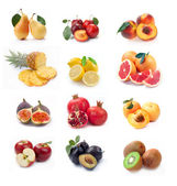Collection of ripe fruits images — Stock Photo
