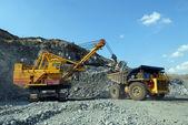 Carregamento de minério de ferro — Fotografia Stock