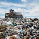 The bulldozer on a garbage dump — Stock Photo #2644285