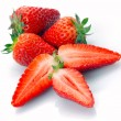 Whole strawberry and half — Stock Photo #2645548