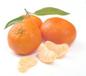 Clementines with segments — Stock Photo