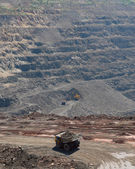 Panorama of an open-cast mine — Stock Photo